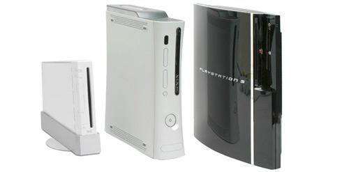 Sony PlayStation 3, Microsoft Xbox 360, Nintendo Wii